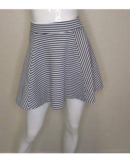 Sukňa Pimkie bielo-čierna prúžkovaná, veľ.XS