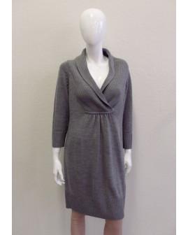 Pletené šaty H&M sivé, veľ.L