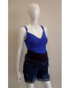 Tehotenské šortky H&M rifľové modré, veľ.38