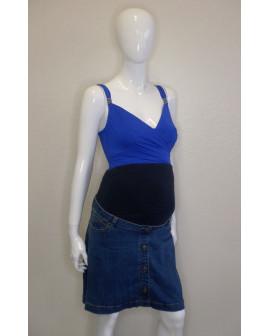 Tehotenská sukňa rifľová modrá, veľ.40