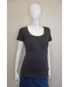 Tehotenské tričko H&M tmavosivé s drobnými bodkami, veľ.M