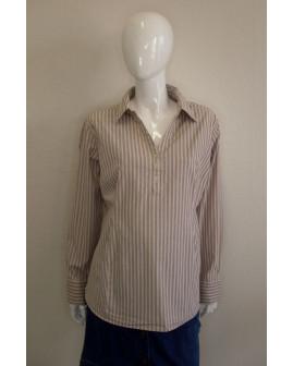 Košeľa H&M béžová prúžkovaná, veľ.XL