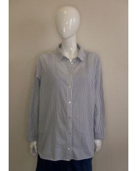 Košeľa H&M modrá prúžkovaná, veľ.XL