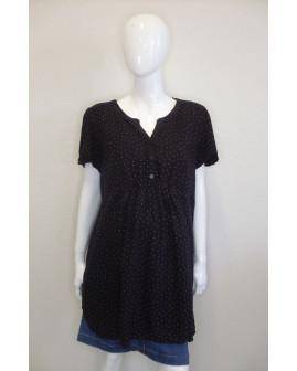 Tehotenská blúzka H&M čierna s bodkami, veľ.XL