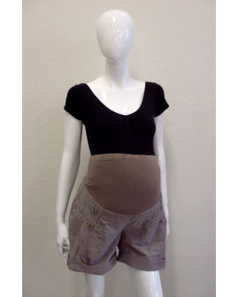 Tehotenské šortky Yessica hnedé, veľ.42
