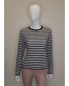 Tričko čierno-biele prúžkované, veľ.S