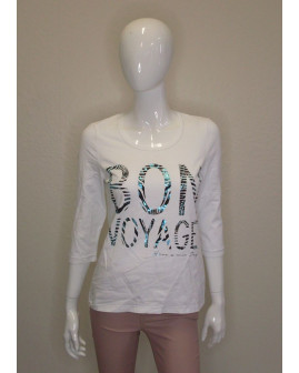 Tričko Bonita biela s nápisom, veľ.M