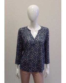 Tričko H&M modré so vzorom, veľ.M