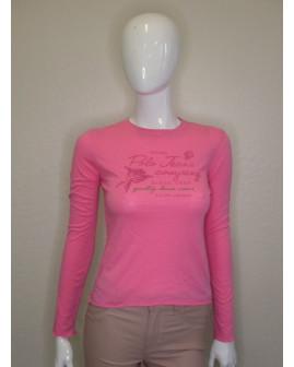 Tričko Ralph Lauren ružové s nápismi, veľ.S