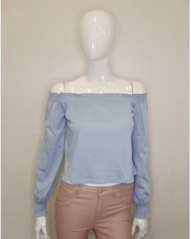 Tričko H&M svetlomodré, veľ.S