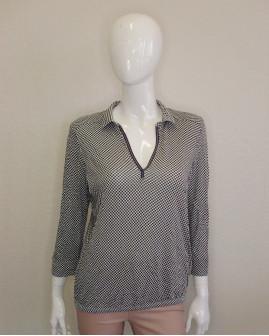 Tričko Marc O´Polo čierno-biele vzorované, veľ.L