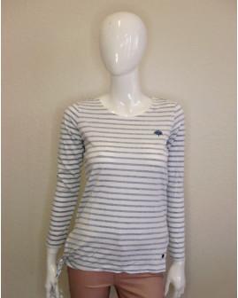Tričko Tchibo biele s modrými prúžkami, veľ.36