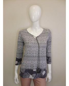 Tričko Gina Benotti sivé so vzorom, veľ.S