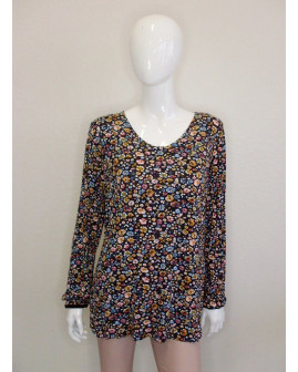 Tričko Gina Benotti čierne s farebným vzorom, veľ.XL