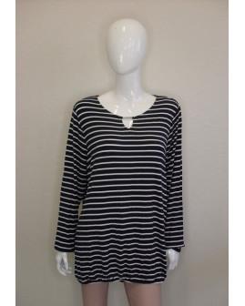 Tričko Gina Benotti tmavomodré prúžkované, veľ.XL