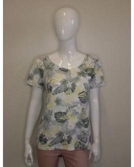 Tričko Gina Benotti sivo-žlté vzorované, veľ.L