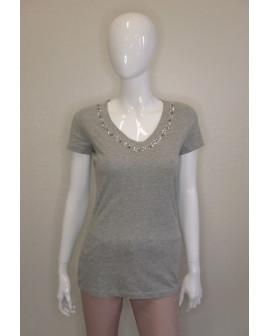 Tričko Gina Benotti sivé, s korálkami, veľ.38