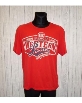 Tričko Esprit červené s nápismi, veľ.XXL