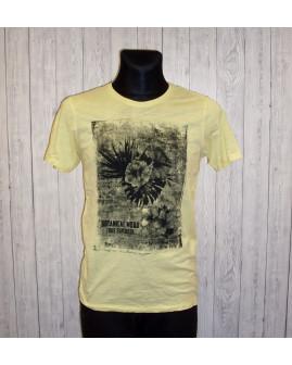 Tričko Smog žlté s potlačou, veľ.S