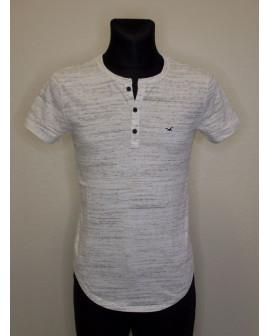 Tričko Hollister bielo-sivé melírované, veľ.XS