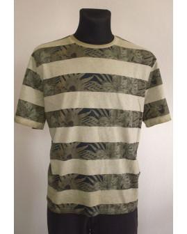 Tričko Canda zelené pruhované, veľ.XL